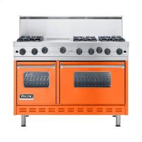 """Pumpkin 48"""" Open Burner Commercial Depth Range - VGRC (48"""" wide, six burners 12"""" wide griddle/simmer plate)"""
