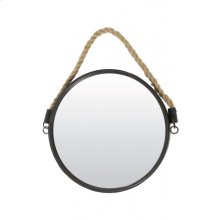 Mirror 38 cm FORCE bronze with rope
