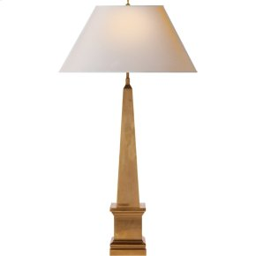 Visual Comfort AH3049NB-NP Alexa Hampton Vivien 28 inch 40 watt Natural Brass Decorative Table Lamp Portable Light