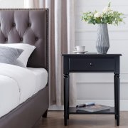 Black Stratus Nightstand with Drawer #22022-BK Product Image