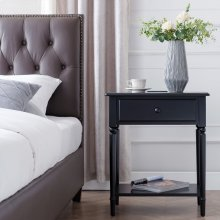 Black Stratus Nightstand with Drawer #22022-BK