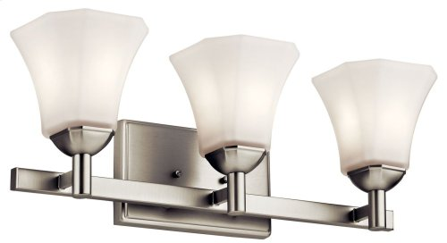 Serina 3 Light Vanity Light Brushed Nickel
