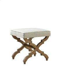 Linen and Oak Footstool