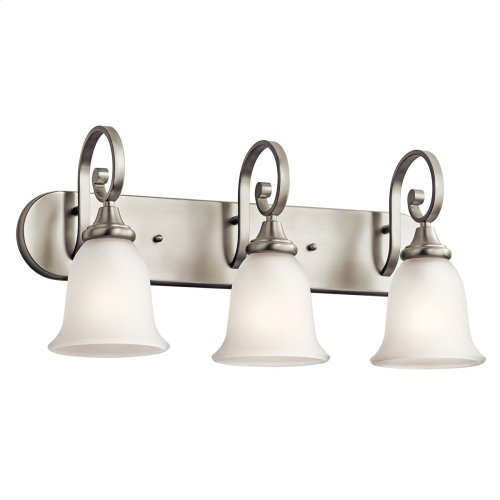 Monroe 3 Light Vanity Light with LED Bulbs Brushed Nickel
