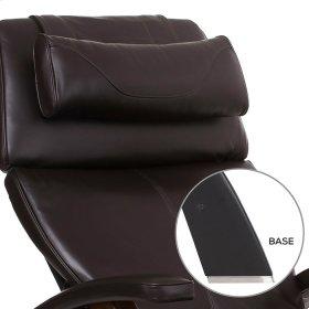 Perfect Chair PC-LiVE™ - Espresso Premium Leather - Matte Black