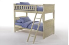 Cape Cod Dolphin Twin/Twin Bunk in Buttercream Finish