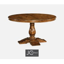 "55"" Circular Extending Dining Table in Country Walnut"