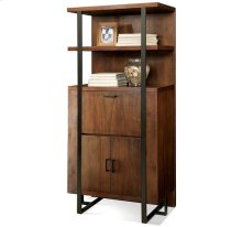 Terra Vista Secretary Bookcase Casual Walnut finish