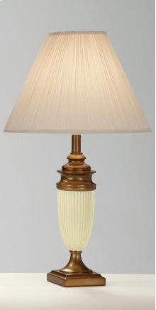 Ivory/Bronze Vase Lamp
