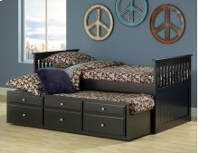 Logan Twin Captain's Bed - Black