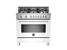 36 6-Burner, Electric Self-Clean Oven White