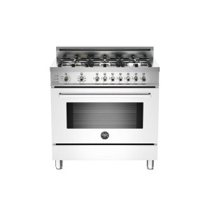 36 6-Burner, Electric Self-Clean Oven White - White