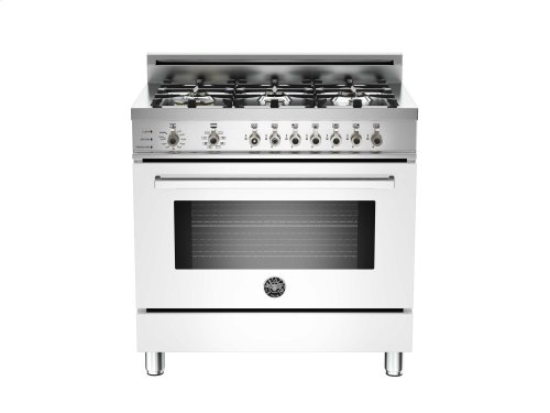 36 6-Burner, Electric Self-Clean Oven White
