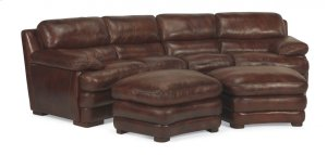 Dylan Leather Conversation Sofa without Nailhead Trim