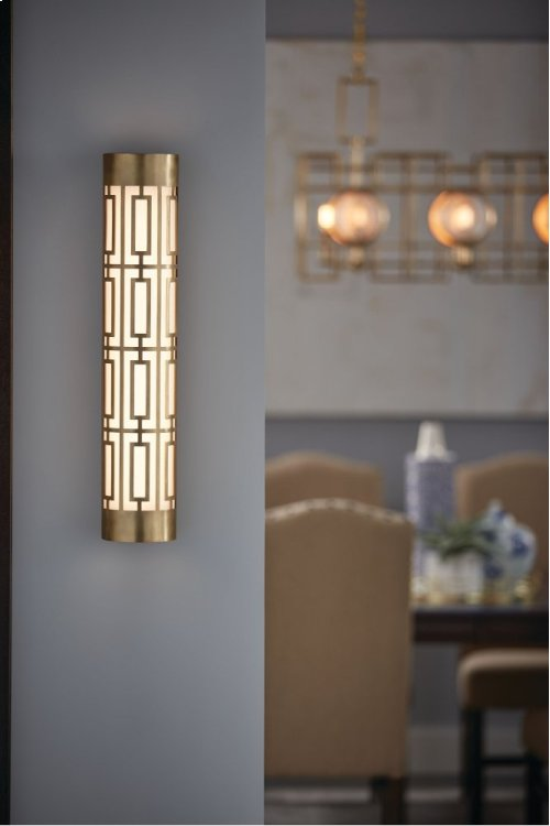"""Empire 24"""" LED Linear Wall Sconce Natural Brass"""