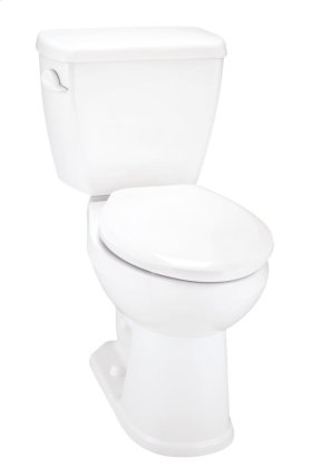 """White Avalanche® 1.6 Gpf 12"""" Rough-in Two-piece Elongated Ergoheight Toilet"""