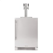 24 Inch Dual Tap Solid Stainless Door Right Hinge Undercounter Beverage Dispenser