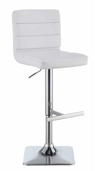 Flash Adjustable Bar Stool White
