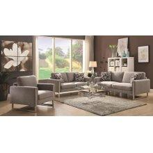 Stellan Contemporary Grey Two-piece Living Room Set