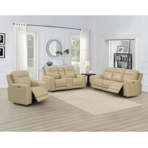 Steve Silver Co.Doncella 3 Piece Dual Power Leather Motion Set(Sofa, Loveseat & Chair)