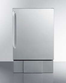 Outdoor Icemaker for Built-in Use, In Complete Stainless Steel With Towel Bar Handle