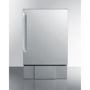 SummitOutdoor Icemaker for Built-in Use, In Complete Stainless Steel With Towel Bar Handle