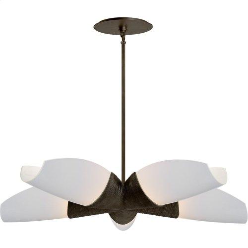 Visual Comfort KW5036AI-WG Kelly Wearstler Utopia 5 Light 33 inch Aged Iron Chandelier Ceiling Light