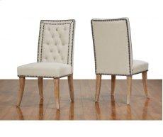 Garrett Beige Linen Dining Chair Product Image