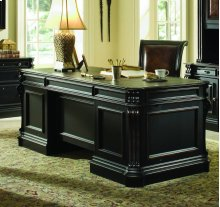 "Telluride 76"" Executive Desk w/Wood Panels"