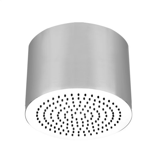 """Round SEGNI ceiling-mounted shower head 1/2"""" connections Projection from ceiling 10-5/8"""" Max flow rate 2"""