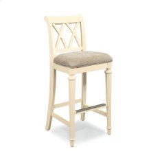Camden Buttermilk Splat Back Uph. Bar Height Barstool