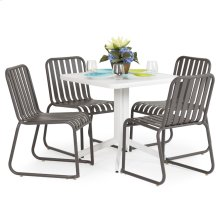 0100 Series 5PC Dining Set Charcoal Finish