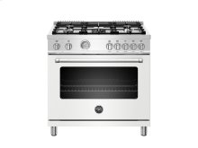 36 inch 5-Burner, Electric Oven Matt White