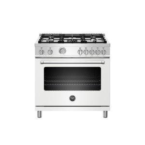 Bertazzoni36 inch 5-Burner, Electric Oven Matt White