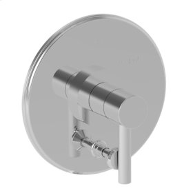 Satin Nickel - PVD Balanced Pressure Tub & Shower Diverter Plate with Handle. Less Showerhead, arm and flange.