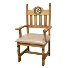 Padded Open Star Arm Chair