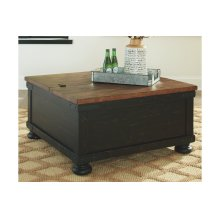 Square Lift Top Cocktail Table