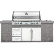 Built-In LEX 730 RBI Stainless Steel with Infrared Bottom and Rear Burners
