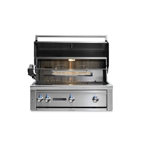 """36"""" Sedona by Lynx Built In Grill with 3 Stainless Steel Burners and Rotisserie, NG"""