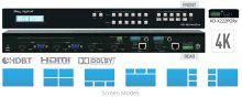 4x2 4K POH/HDBaseT/HDMI/VGA Multi-View Seamless Presentation Matrix Switcher. (Includes 1 Rx Extender)
