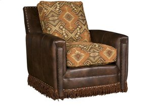 Steamboat Leather/Fabric Swivel Chair