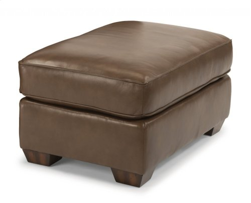 Thornton Leather Cocktail Ottoman