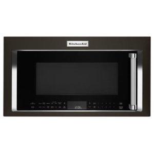KITCHENAID1000-Watt Convection Microwave Hood Combination - Black Stainless