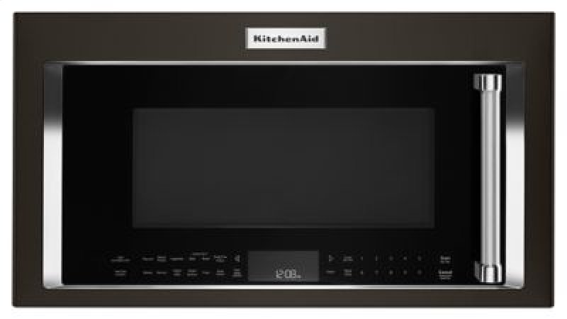 1000 Watt Convection Microwave Hood Combination Black Stainless