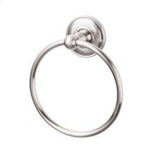 Edwardian Bath Ring Plain Backplate - Brushed Satin Nickel