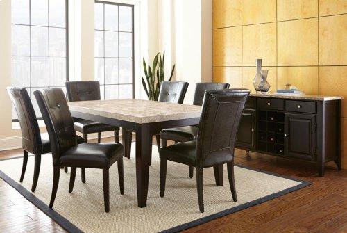 "Monarch Parsons Chair, Black 21"" x 29"" x 39"""