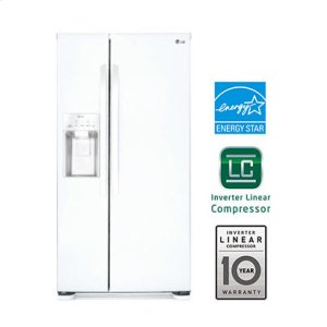 22 cu. ft. Side-by-Side Refrigerator - SMOOTH WHITE