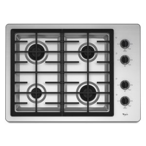 30-inch Gas Cooktop with two 12,500 BTU Power Burners - STAINLESS STEEL