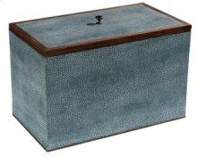 Medium Turquoise Shagreen Box