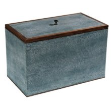 Medium Turquoise Shagreen Box
